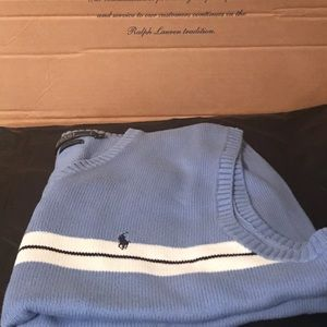 Sky Blue Polo Ralph Lauren Vest Size Large